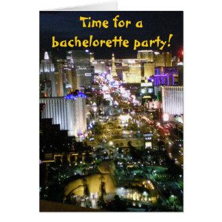 Las Vegas Bachelorette partyinbjudningar Hälsningskort