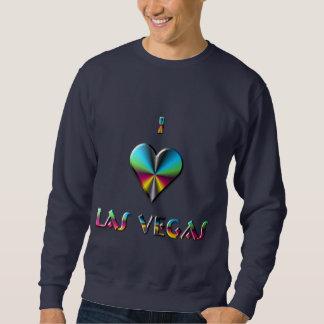 Las Vegas -- Blåttgrönt & Burgundy Sweatshirt