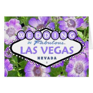 Las Vegas blom- BRÖLLOPkort