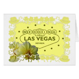 Las Vegas bröllop i marskort Hälsningskort