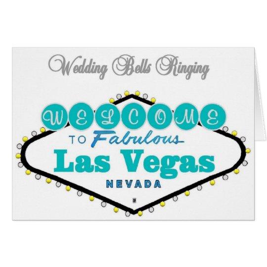 Las Vegas bröllop sätta en klocka på Hälsningskort