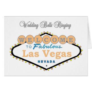 Las Vegas bröllop sätta en klocka på ringningmedde Kort