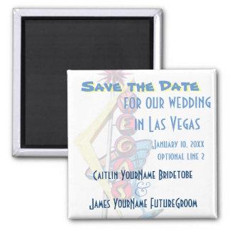 Las Vegas bröllop spara datum Magnet