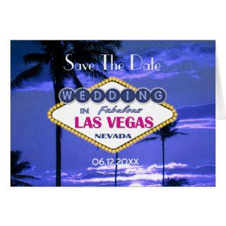 Las Vegas bröllop spara datum OBS Kort