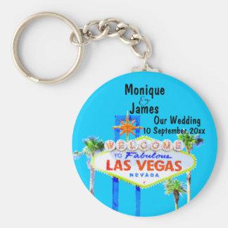 Las Vegas bröllopinbjudan Rund Nyckelring