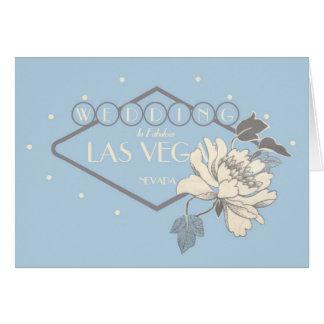 Las Vegas bröllopkort Hälsnings Kort
