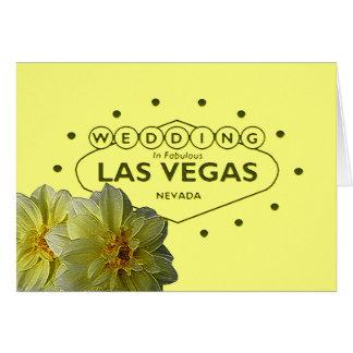 Las Vegas bröllopkort Hälsningskort