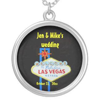Las Vegas bröllopMemento Halsband Med Rund Hängsmycke