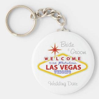 Las Vegas bröllopminnessak Keychain Nyckel Ring