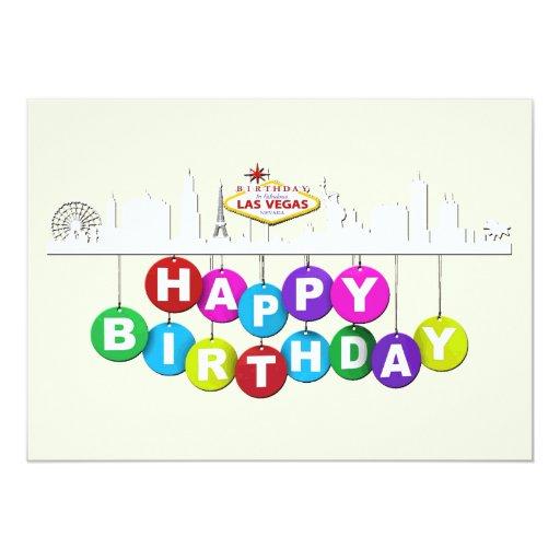 """Las Vegas födelsedagMatte 5"""" x 7"""", inbjudningar"""