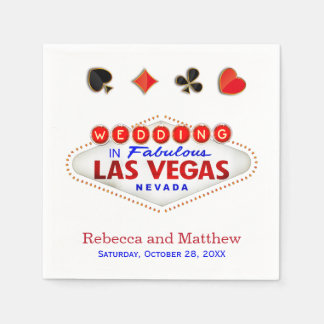 Las Vegas gifta sig sagolikt bröllop Pappersservett