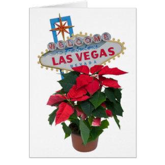 Las Vegas god jul med julstjärnakortet Kort
