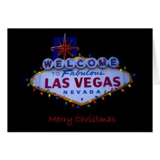 Las Vegas god jul med ljuskortet Hälsningskort