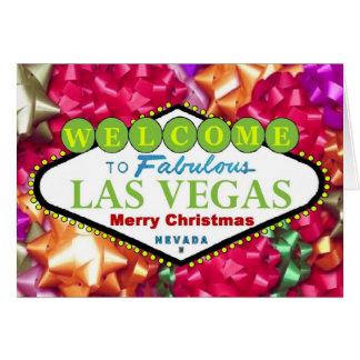 Las Vegas god jul med pilbågekortet Hälsnings Kort