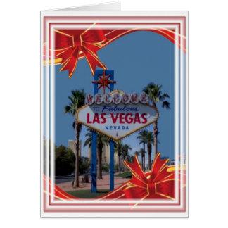 Las Vegas god julkort Hälsnings Kort