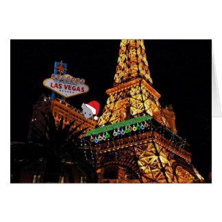 Las Vegas god julkort med den mycket små musen Kort