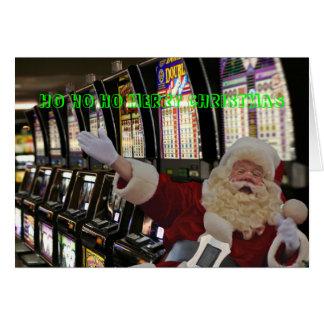 Las Vegas HO HO HO GOD JULSanta kort