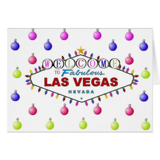 Las Vegas julkort med prydnadar Hälsningskort