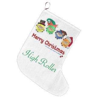 Las Vegas julstrumpa. Kickrulle Large Christmas Stocking