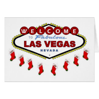 Las Vegas julstrumpakort Hälsnings Kort