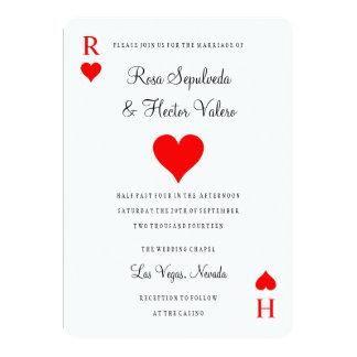 Las Vegas kasinopoker som leker kortinbjudan 12,7 X 17,8 Cm Inbjudningskort