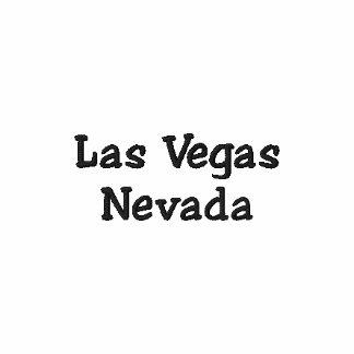 Las Vegas Nevada broderade Poloskjortan Broderad Tröja