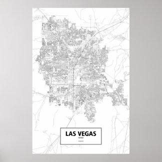Las Vegas Nevada (svarten på vit) Poster