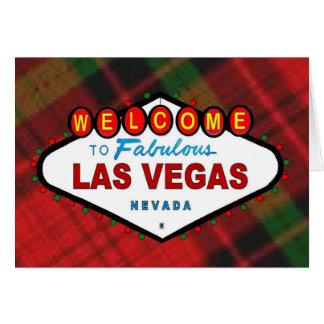 Las Vegas plädjulkort Kort
