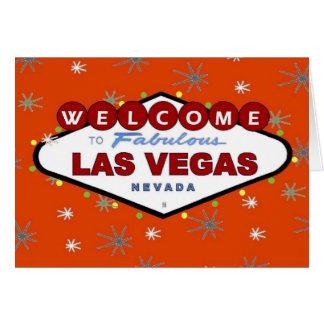 Las Vegas Retro julkort Hälsnings Kort