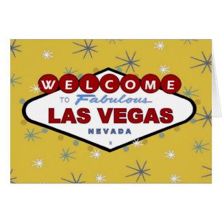 Las Vegas Retro julkort Kort