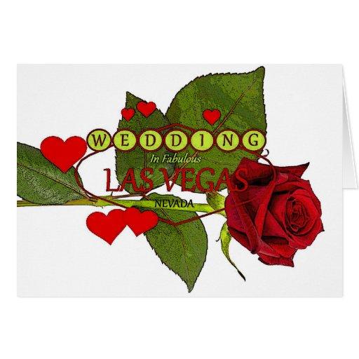 Las Vegas röd ros, med att flyta att gifta sig för Hälsningskort