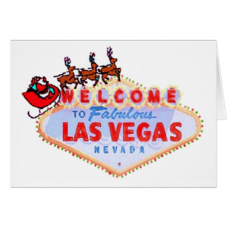 Las Vegas Santa och renkort Hälsnings Kort