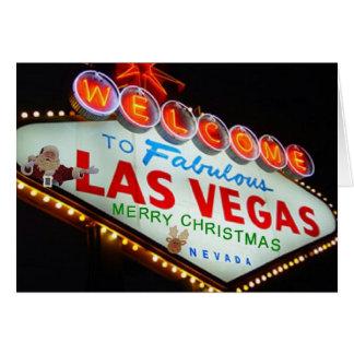 Las Vegas Santa & rengod julkort Hälsningskort