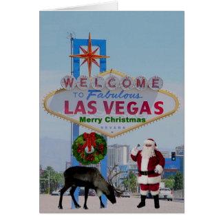 Las Vegas Santa & Rudolph god julkort Hälsnings Kort