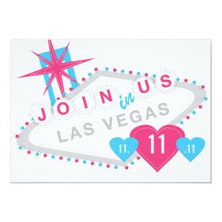 Las Vegas Sate lyckligt förälskat datera 12,7 X 17,8 Cm Inbjudningskort