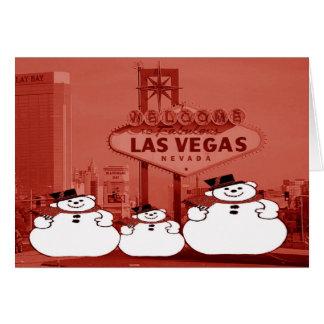 Las Vegas snögubbejulkort Kort