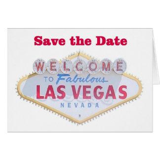 Las Vegas spara daterakorten Hälsningskort
