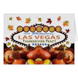 Las Vegas thanksgivingfestmåltid! Kort