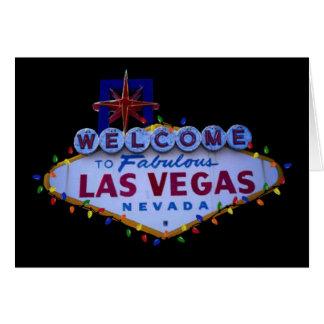 Las Vegas undertecknar med julljus Hälsnings Kort
