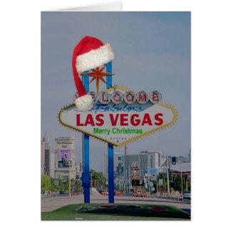 Las Vegas undertecknar med kortet för Santa lockgo Hälsnings Kort