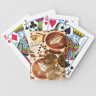 Las Vegas valuta som leker kort Spelkort