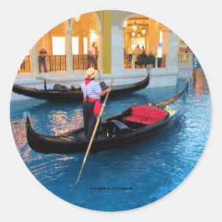Las Vegas Venedig Gondoliersklistermärke Runt Klistermärke