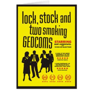 Låsa, lagrar och två röka GEDCOMs Hälsningskort