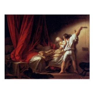 Låsa, vid Fragonard Jean-Honoré (bäst kvalitets-) Vykort