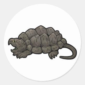 Låsande fast sköldpadda för alligator runt klistermärke