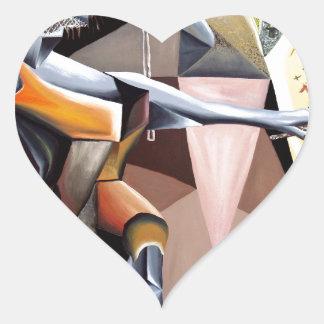 Lascaux - beställnings- tryck! hjärtformat klistermärke