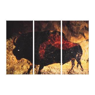 Lascaux Bison Canvastryck