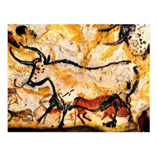 Lascaux grottamålning av tjurvykortet vykort