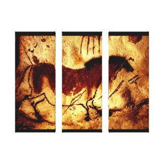 Lascaux häst canvastryck