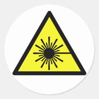 Laser_Radiation Runt Klistermärke